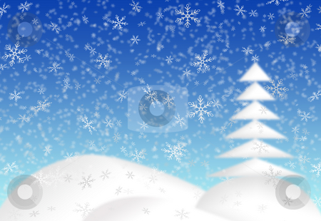 Christmas card stock photo, Blue christmas card background by Milos Pavlovsky