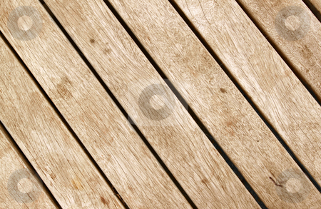 Close up of wood decking planks. stock photo, Close up of wood decking planks. by Stephen Rees