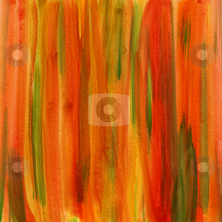 Red, green and yellow watercolor abstract background stock photo, Red, green and yellow watercolor abstract background in fall colors with paper texture, self made by Marek Uliasz