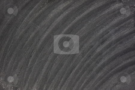 Blackboard texture with white chalk eraser marks stock photo, Blank blackboard texture with diagonal white chalk marks from eraser by Marek Uliasz