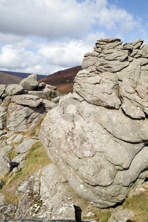Bonehill rocks in Dartmoor, Devon England. stock photo, Bonehill rocks in Dartmoor, Devon England. by Stephen Rees