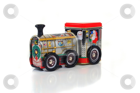 Train Box stock photo, Old christmas candy box by Jack Schiffer