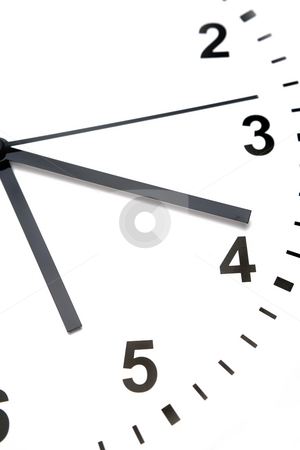 Clock face    stock photo, Clock face over white background. by Les Cunliffe