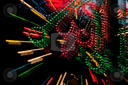 City lights stock photo, Background series: night city color lights texture by Gennady Kravetsky