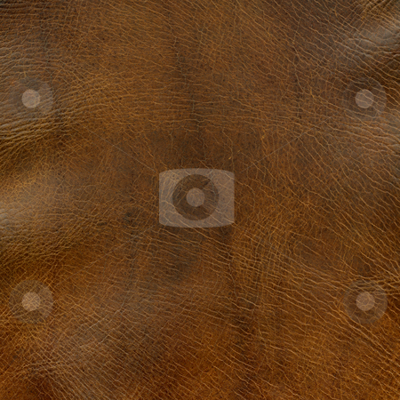 Distressed brown leather texture stock photo, Distressed brown leather background with some wrinkles - a top of old horse saddle by Marek Uliasz