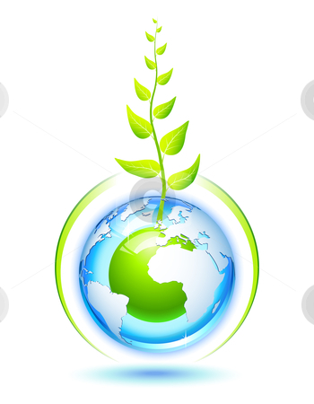 Living Earth stock vector clipart, Environmental concept for preservation of the Earth by Laurent Renault