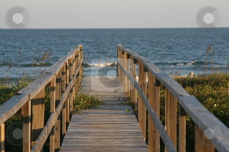 Walkway to the Beach stock photo, This is a walkway to Folly Beach in Charleston, SC by Joy Marcus