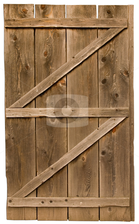 Wood Door Frames on Old Wood Door Isolated Stock Photo  An Old Wood Door Isolated On A