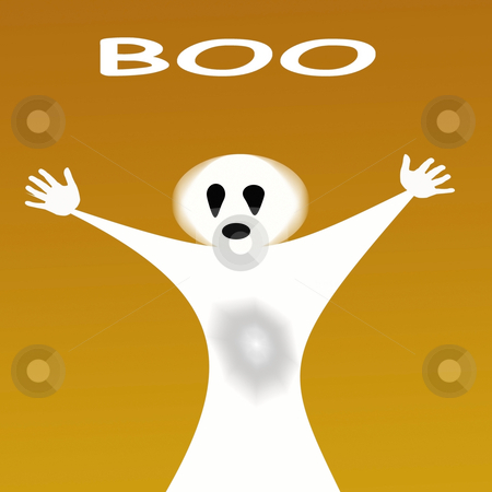Halloween ghost stock photo, Halloween ghost shouting boo created with photoshop by CHERYL LAFOND