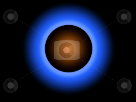Solar Eclipse stock photo, Solar eclipse on a dark blue background by CHERYL LAFOND