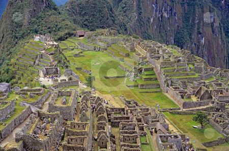 View of the ruins at Machu Picchu, Peru stock photo, View of some of the ruins at Machu Picchu, Peru by Stephen Goodwin