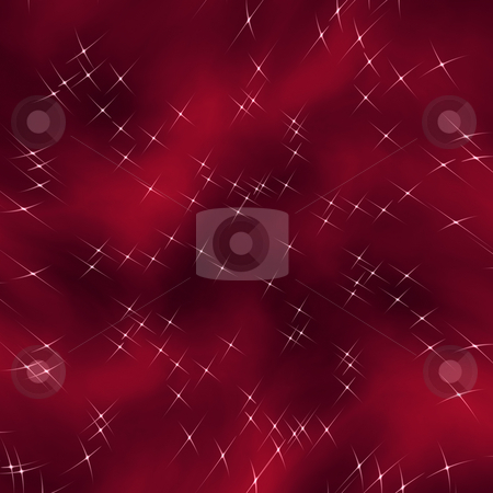 Red flowing star nebula stock photo, Bright background of flowing universe with stars by Wino Evertz