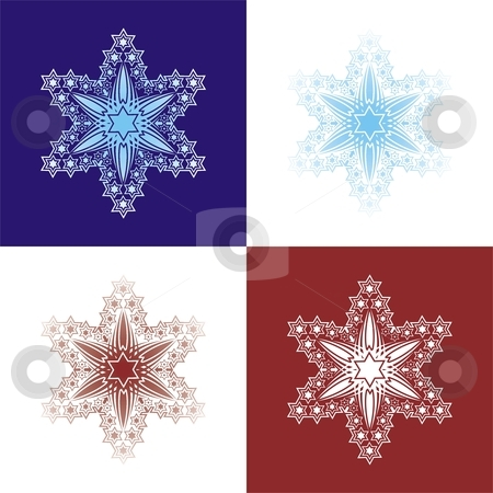 Snowflakes stock vector clipart, White seamless pattern from snowflakes(can be repeated and scaled in any size) by Čerešňák