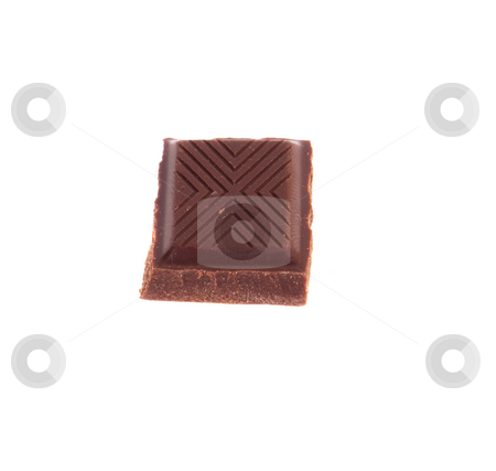 Chocolate stock photo, Chocolate isolated on white background by Salauyou Yury