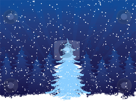 Grunge christmas frame with christmas tree stock vector clipart, Grunge christmas frame with christmas tree and stars by Vadym Nechyporenko