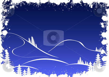 Grunge winter background with fir-tree snowflakes and santa stock vector clipart, Grunge winter background with fir-tree snowflakes and santa by Vadym Nechyporenko
