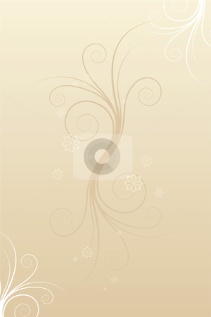 Abstract winter scrolls stock vector clipart, Abstract winter scrolls with snowflake and flowers by Vadym Nechyporenko