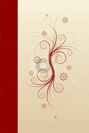 Abstract winter scrolls stock vector clipart, Abstract winter scrolls with snowflake and flowers by Vadym Nechyporenko