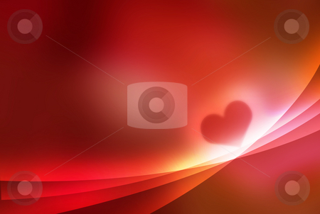 Heart - valentine abstract background stock photo, Heart - valentine abstract background red coloured composition by Milos Pavlovsky
