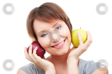 Healthy lifestyle stock photo, Young woman having fun of healthy eating by Natalia Macheda