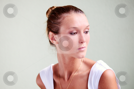 Tanned beauty stock photo, Portrait of beautiful caucasian woman with mediterranean tan by Natalia Macheda