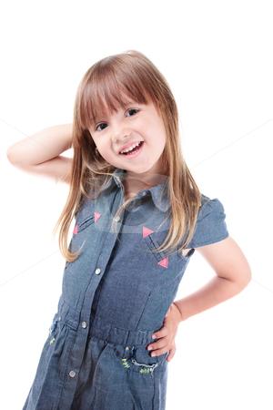 Little model stock photo, Lovely little girl posing like a fashion model by Natalia Macheda