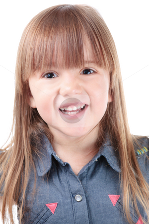 Lovely girl stock photo, Lovely little girl with toothy smile by Natalia Macheda