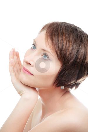 Portrai of sensual woman stock photo, Portrai of healthy sensual woman isolated on white by Natalia Macheda