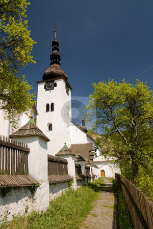 Church in spania dolina stock photo, Church in spania dolina, central slovakia, europe by Milos Pavlovsky