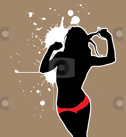 Sexy woman silhouette stock vector clipart, Sexy woman silhouette (vector illustration) by ojal_2