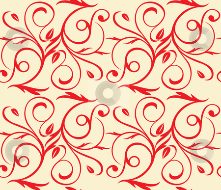 Seamless floral background stock vector clipart, Seamless floral background (repeating top to down and left to right) by ojal_2