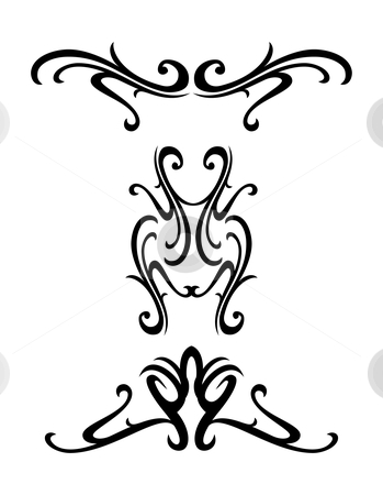 Tribal ornamental design stock vector clipart, Vector tribal ornamental design elements - tatto by Ilyes Laszlo