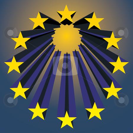 European unions stars stock vector clipart, European unions stars exploding (vector illustration) by ojal_2