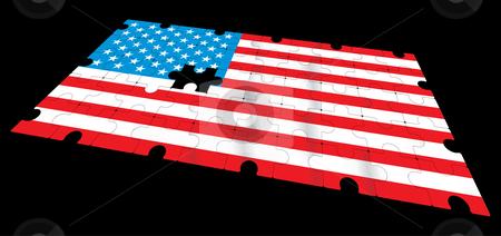 American flag stock vector clipart, Vector american flag - vector illustration by ojal_2