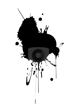 Splashes stock vector clipart, Vector splashes - size and color can be changed by ojal_2
