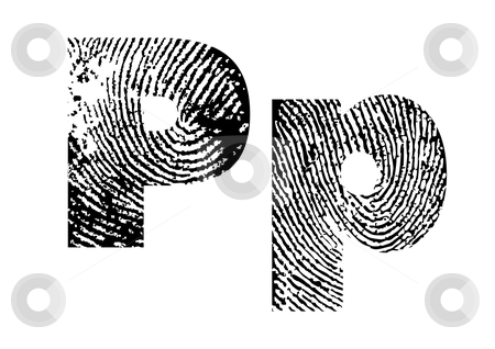 Finger print alphabet stock vector clipart, Finger print alphabet - vector illustration by ojal_2