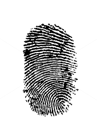 Finger print stock vector clipart, Detailed finger print - vector illustration by Ilyes Laszlo