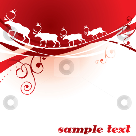 Christmas reindeer stock vector clipart, Christmas reindeer background - vector illustration by ojal_2