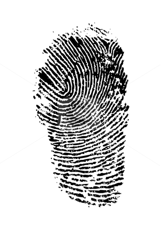 Finger print stock vector clipart, Detailed finger print - vector illustration by ojal_2