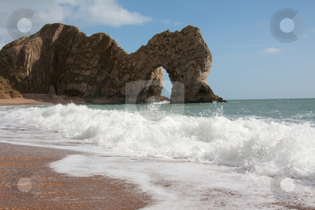Durdle Door stock photo, Durdle Door arch in Dorset, UK by Simon Greig