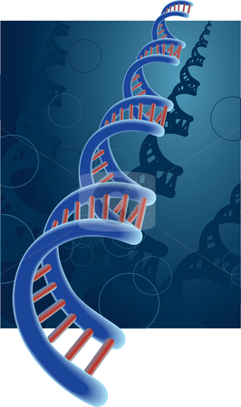 DNA stock vector clipart, A conceptual illustration of DNA. Available as AI8 EPS. by Joshua Curtis