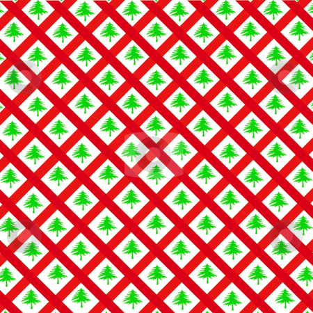 Christmas Wrapping paper stock photo, Latis and Christmas trees make a good wrapping paper by CHERYL LAFOND