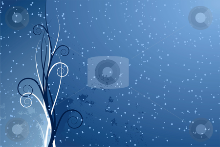 Abstract seasonal background stock vector clipart, Abstract seasonal background with scrolls by Vadym Nechyporenko