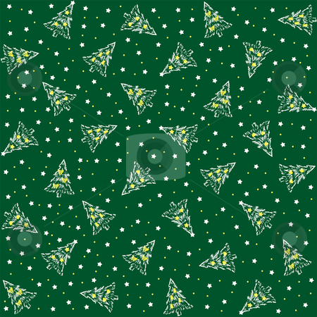 Christmas cover stock vector clipart, Christmas cover with Christmas tree and stars by Vadym Nechyporenko