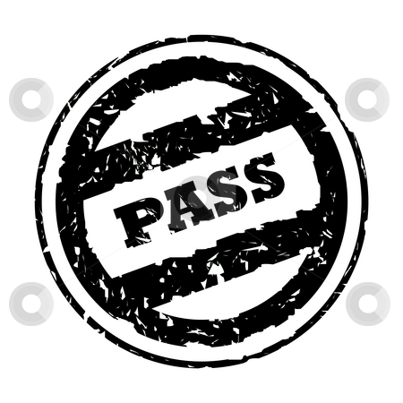 Used pass stamp stock photo, Used black business pass stamp, isolated on white background. by Martin Crowdy