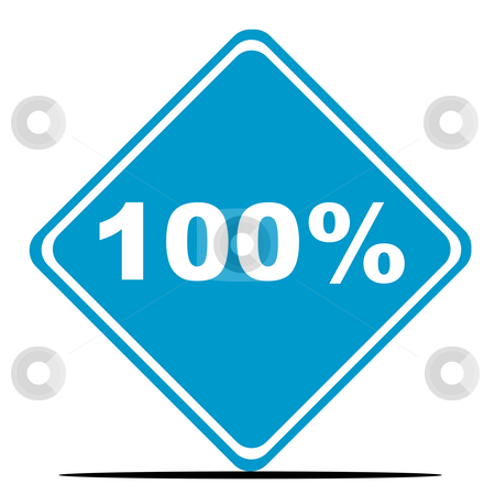 100 Percent sign stock photo, 100 percent sign isolated on white background. by Martin Crowdy