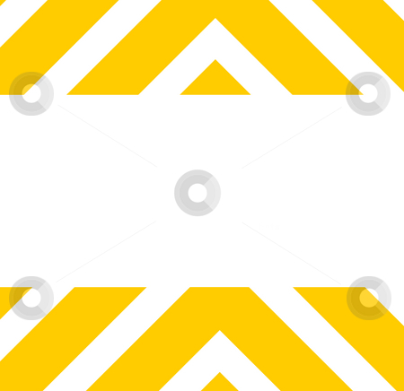 Hazard warning background stock photo, Orange striped hazard warning background isolated on white with copy space. by Martin Crowdy