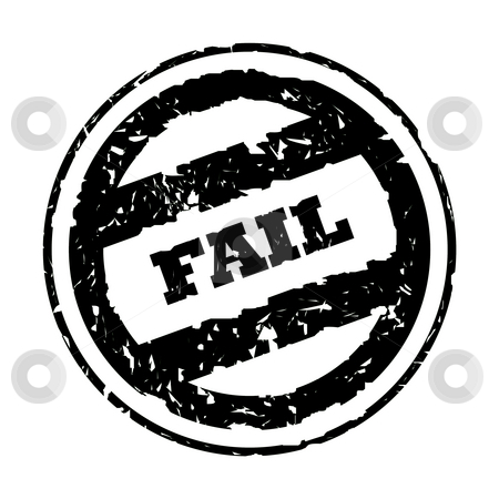 Used fail stamp stock photo, Used black business fail stamp, isolated on white background. by Martin Crowdy