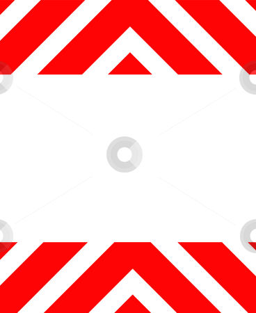Warning hazard background stock photo, Red hazard warning sign isolated on white background. by Martin Crowdy