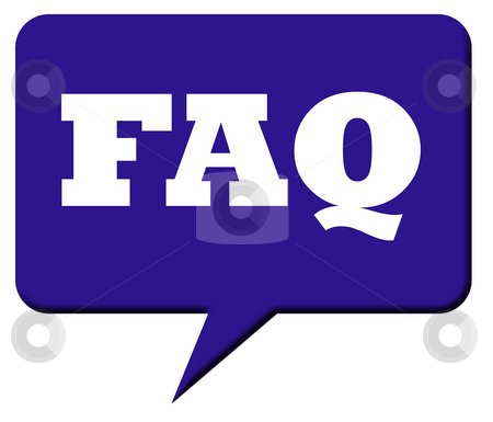 Frequently asked questions stock photo, Fresquently asked questions speech bubble or avatar, isolated on white background. by Martin Crowdy